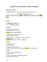 Normas de Comunicação em Língua Portuguesa, Notas de estudo de Língua Portuguesa