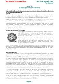 Dret Administratiu II (resum dels 5 temes)