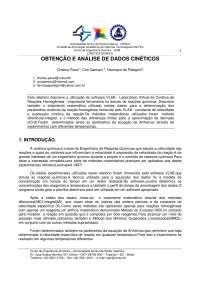 Obtenção a análise de dados cinéticos, Notas de estudo de Engenharia Química
