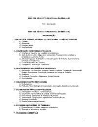 Direito Processual do Trabalho, Notas de estudo de Informática