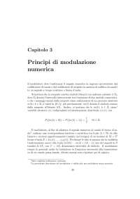 Principi di modulazione numerica + esercizi risolti