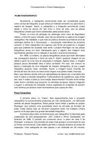 Apostila Filme e Processamento Radiografico, Notas de estudo de Ciências Biologicas