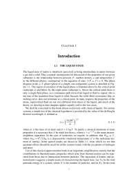 O estado líquido, Notas de estudo de Química