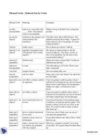 Inglese - Phrasal Verbs