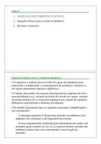 Máquinas Elétricas I - Apostila Unesp [aula 8], Notas de estudo de Engenharia Elétrica