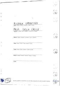 [VM] Ricerca operativa - Appunti ed esercitazioni 1