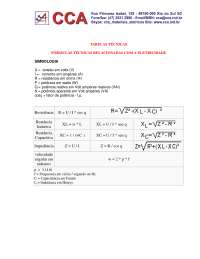 Fórmulas técnicas relacionadas à eletricidade, Notas de estudo de Engenharia Física