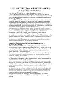 Analisis Economico del Derecho (tema 1)