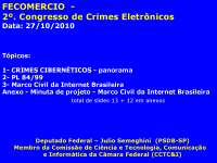 Crimes Cibernéticos - Dep . Federal Julio Semeghini, Notas de estudo de Informática