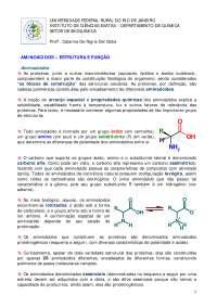 Apost - amac, Notas de aula de Química