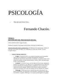 Apuntes de psicología social (fundamentos de la interacción humana , hasta el tema 7 , 2º de Grado d