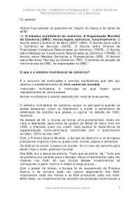 Comercio internacional regular 17, Notas de estudo de Engenharia Informática