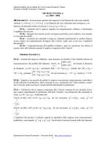 Microeconomia - ESERCIZI 5