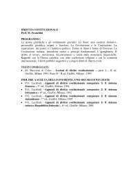 Diritto costituzionale - Franchini