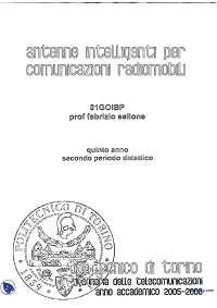 [MB] Antenne intelligenti per comunicazioni radiomobili - Appunti