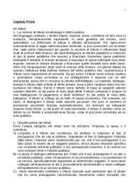 Riassunto esame di Diritto Tributario. Libro consigliato: Tesauro, Parte generale
