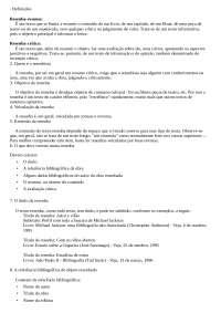 Como fazer resenha=, Notas de estudo de Direito