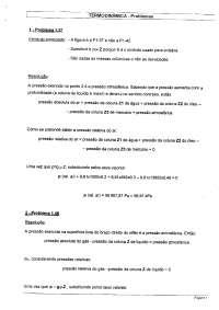 Exercícios Resolvidos Termodinâmica, Exercícios de Engenharia Mecânica