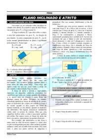 08-plano inclinado e atrito-física, Notas de estudo de Engenharia Aeronáutica