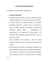 8 aula - aplicação da lei penal em relação a pessoas, Notas de aula de Direito Penal