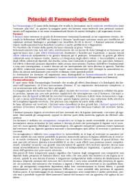 Farmacologia - Principi di Farmacologia Generale