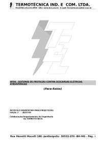 Apostila Projetistas Para Raio, Notas de estudo de Tecnologia Industrial