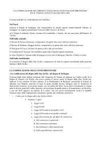 La codificazione del DIRITTO CIVILE NEGLISTATI ITALIANI PREUNITARI ed il IL CODICE CIVILE ITALIANO DEL 1865