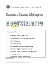 ESERCIZIARIO di Economia e Gestione delle Imprese - Università Federico II