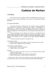 Tutorial Cadeias de Markov, Notas de estudo de Informática