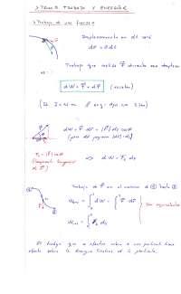 Tema 5. Trabajo y Energia