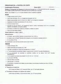 EXAMEN FINAL ENERO 2011 PRESUPUESTOS Y CONTROL DE COSTES