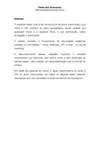 MPU Tecnico Adm Publica 01, Notas de estudo de Educação Física