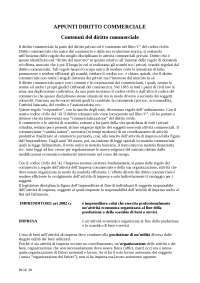APPUNTI di DIRITTO COMMERCIALE - Contenuti del Diritto commerciale