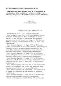 Decreto Legislativo n150 del 2009