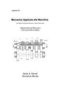 Appunti di: Meccanica Applicata alle Macchine - Prof. Danieli e Mundo - Uni Calabria