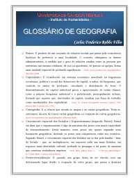 glossário de geografia, Notas de estudo de Geografia