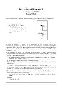 Esercitazione di Elettronica II - Ing. F.Iannuzzo - A.A. 2002/2003 - Logica NMOS - Uni Cassino