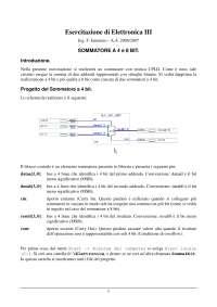Esercitazione di Elettronica III - Ing. F. Iannuzzo - A.A. 2006/2007 - SOMMATORE A 4 e 8 BIT - Uni Cassino