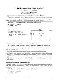 Esercitazione di Elettronica Digitale - Ing. F. Iannuzzo - A.A. 2008/2009 - Il transistore MOSFET - Uni Cassino