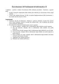 Esercitazione 3 di Fondamenti di informatica II - Prof. Fontanella - Uni Cassino