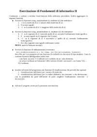Esercitazione 2 di Fondamenti di informatica II - Prof. Fontanella - Uni Cassino