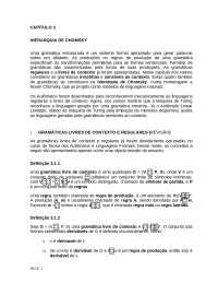 Materia Disc...ilidade uece - tcomp cap3 hierarquia de chomsky corrigir, Notas de estudo de Informática