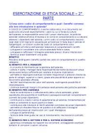 Esercitazione 2 - Etica sociale - Domande
