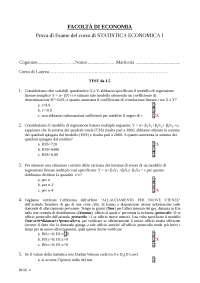 Statistica Economica I - prova 4