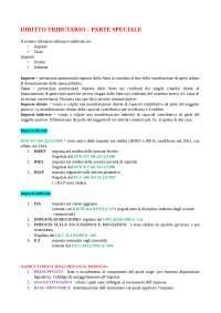 Riassunto lezioni di Diritto tributario (Consigliato: Tesauro - Parte speciale)