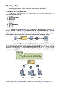 Tecnologia Java - A Linguagem de Programação Java, Notas de estudo de Informática