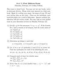 Discrete Math Midterm