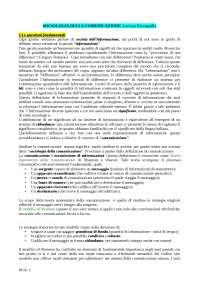 Sociologia della comunicazione - Testo del corso: Paccagnella