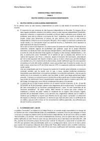 Derecho Penal. Parte Especial (Resumen Manual Muñoz Conde - Adaptado a la Reforma 2010)