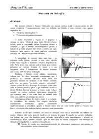 Arranque motores indução, Notas de estudo de Eletrônica